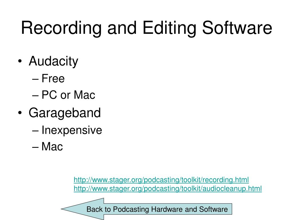 Recording and Editing Software
