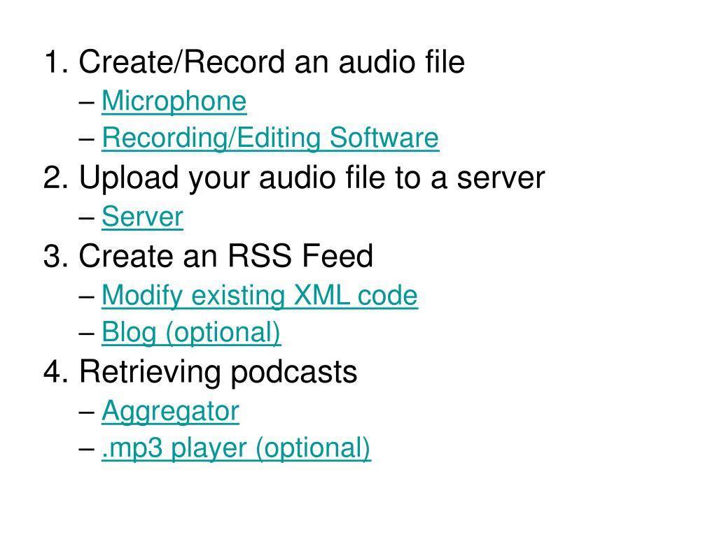 1. Create/Record an audio file