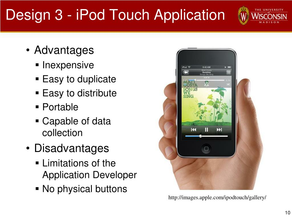 Design 3 - iPod Touch Application