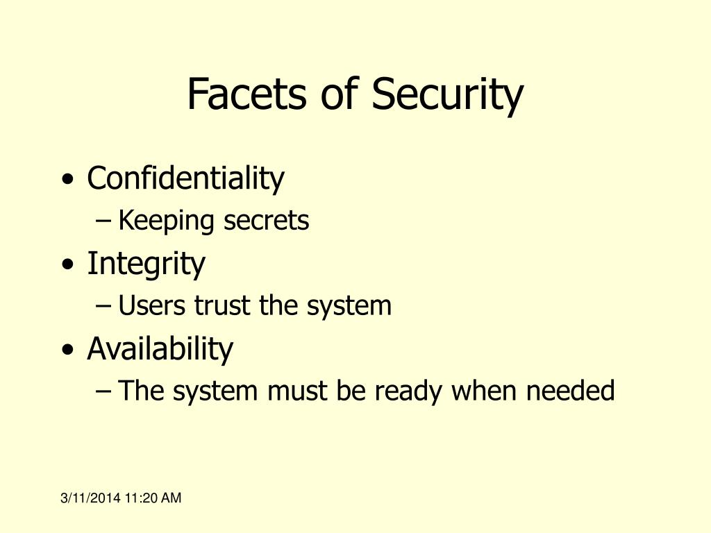 Facets of Security