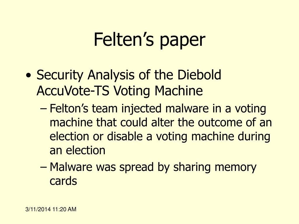 Felten's paper