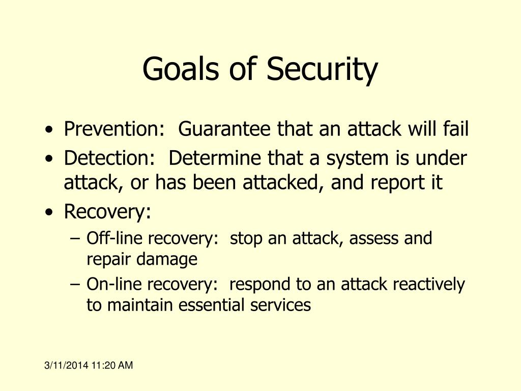 Goals of Security