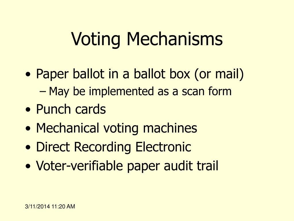 Voting Mechanisms