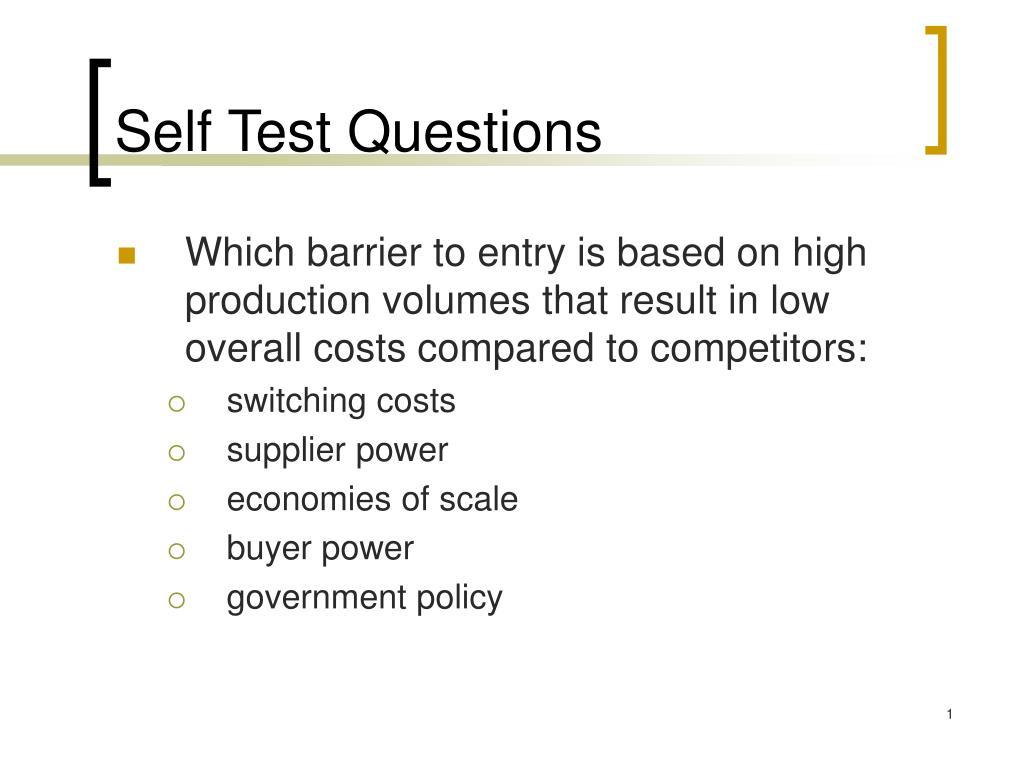 Self Test Questions
