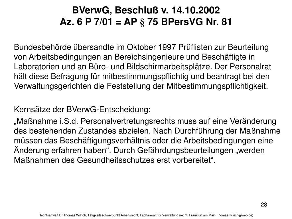 BVerwG, Beschluß v. 14.10.2002