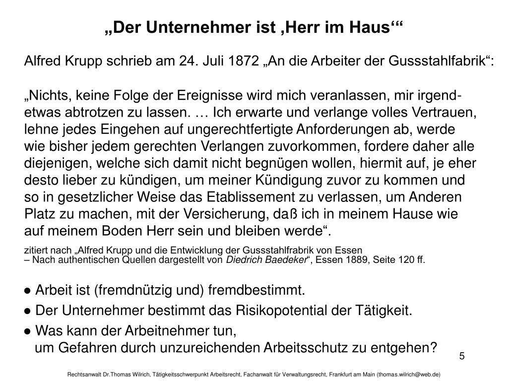 """""""Der Unternehmer ist 'Herr im Haus'"""""""
