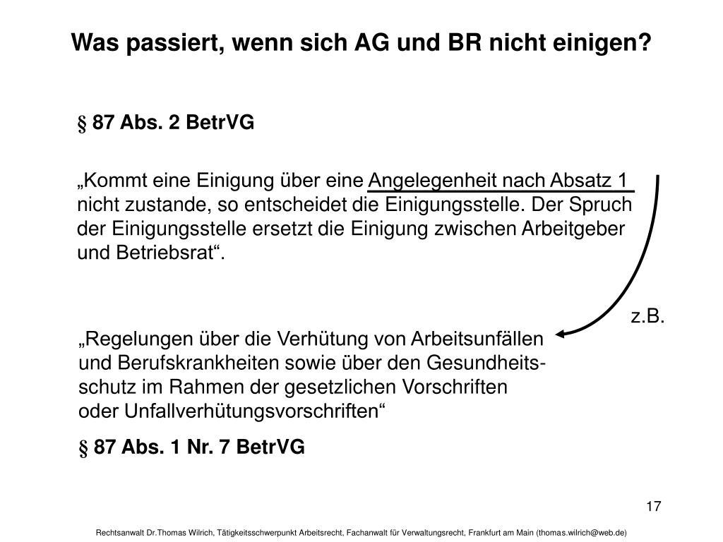 Was passiert, wenn sich AG und BR nicht einigen?