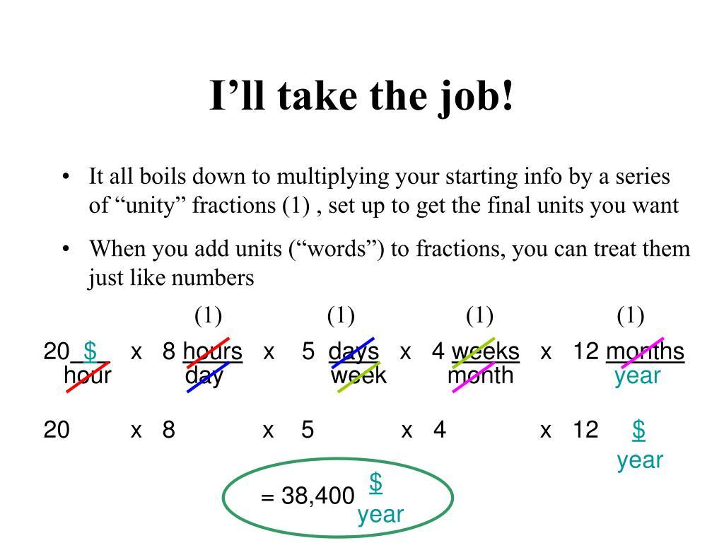 I'll take the job!