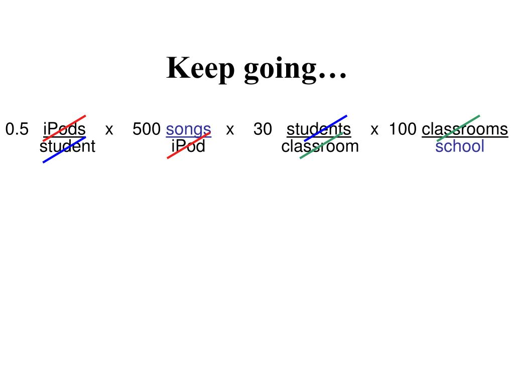 Keep going…