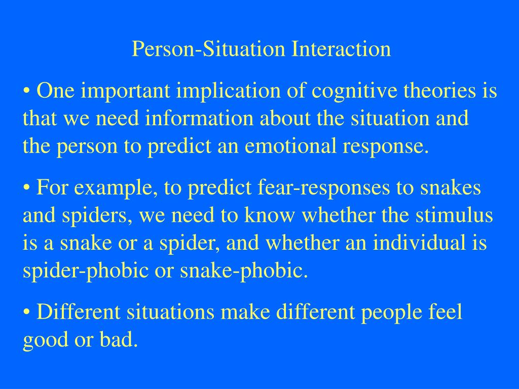 Person-Situation Interaction