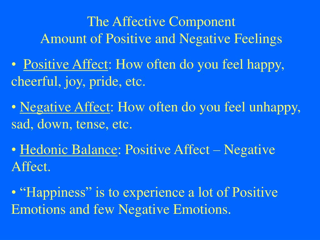 The Affective Component