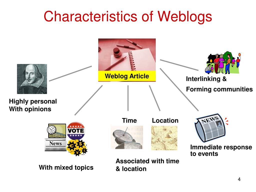 Characteristics of Weblogs