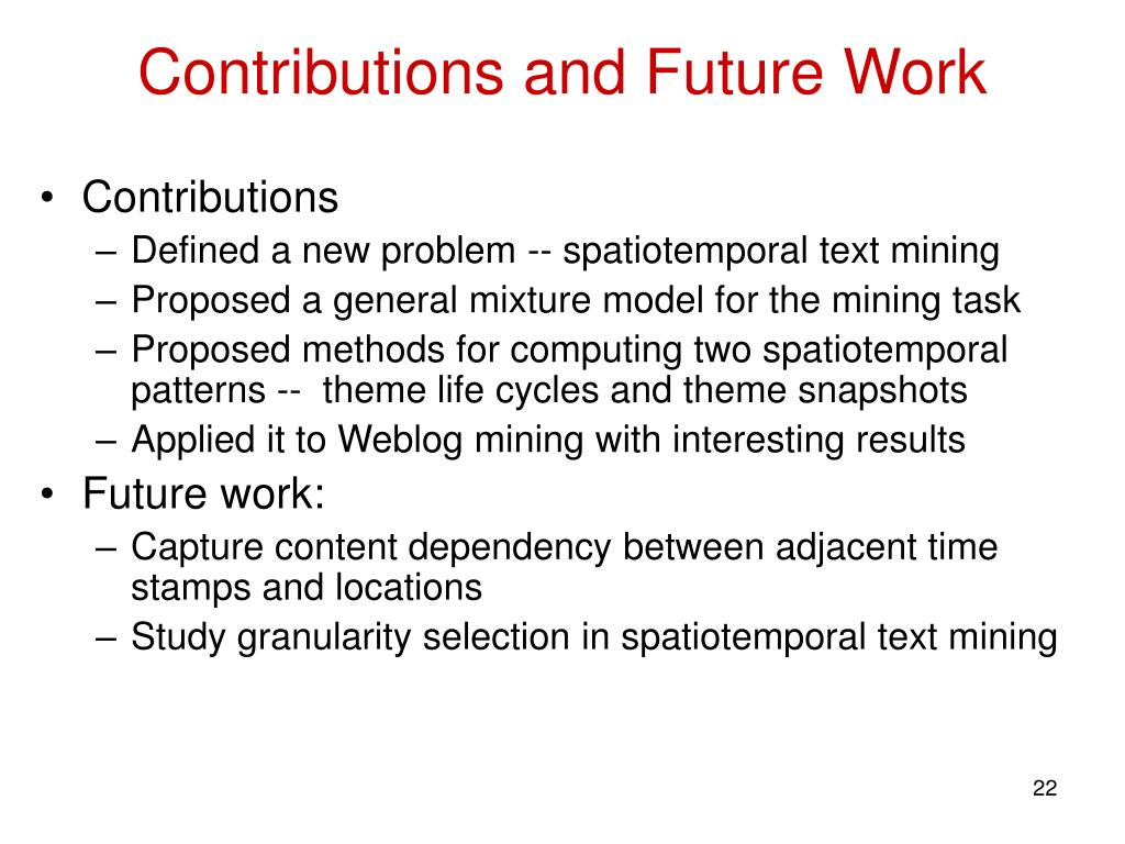Contributions and Future Work