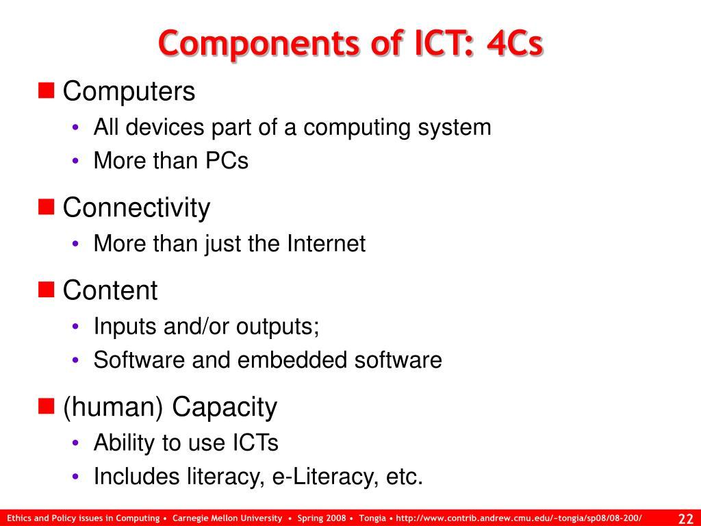 Components of ICT: 4Cs