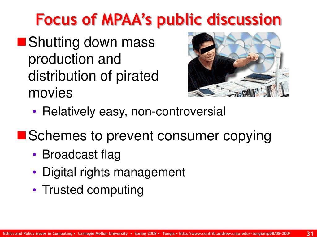 Focus of MPAA's public discussion