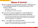 misuse of sources