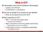 what is ict