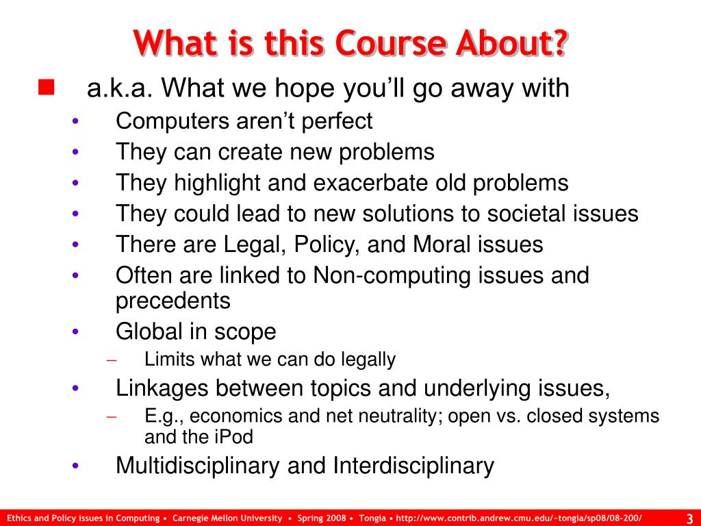 What is this Course About?