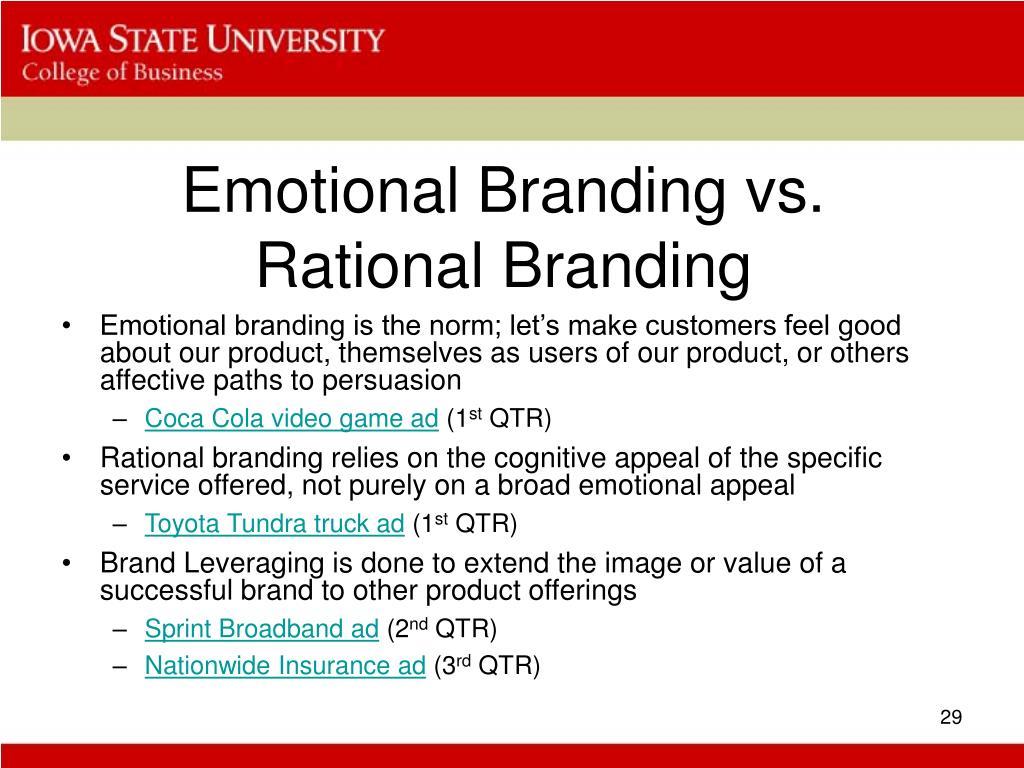 Emotional Branding vs. Rational Branding