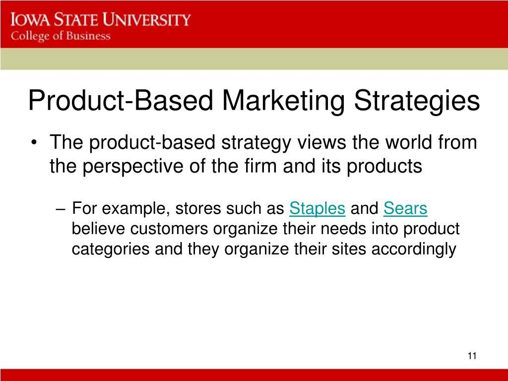 Product-Based Marketing Strategies
