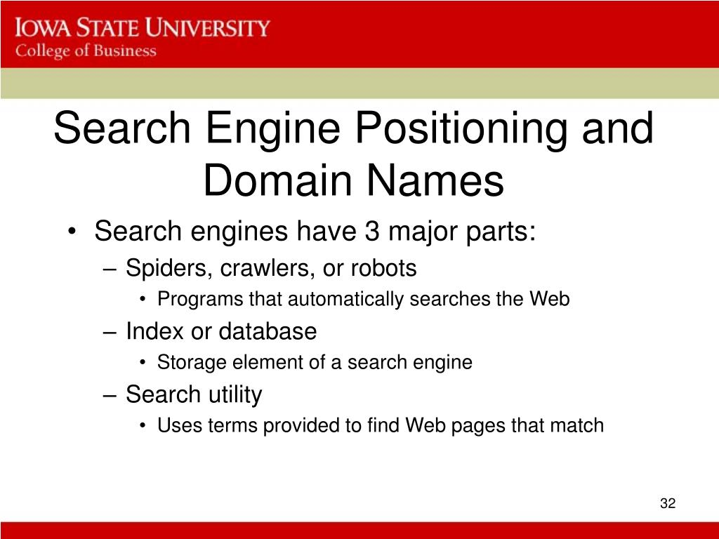 Search Engine Positioning and Domain Names