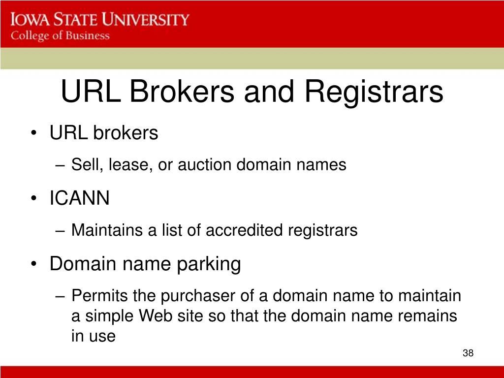 URL Brokers and Registrars