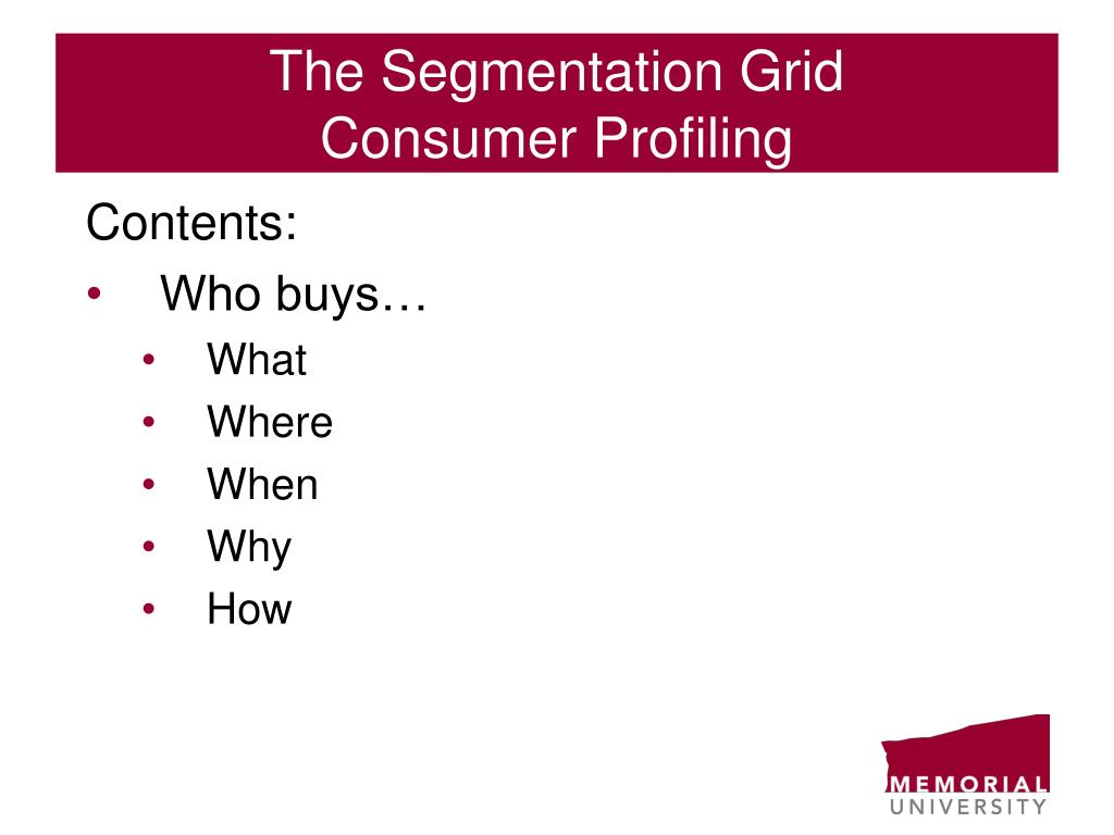 The Segmentation Grid