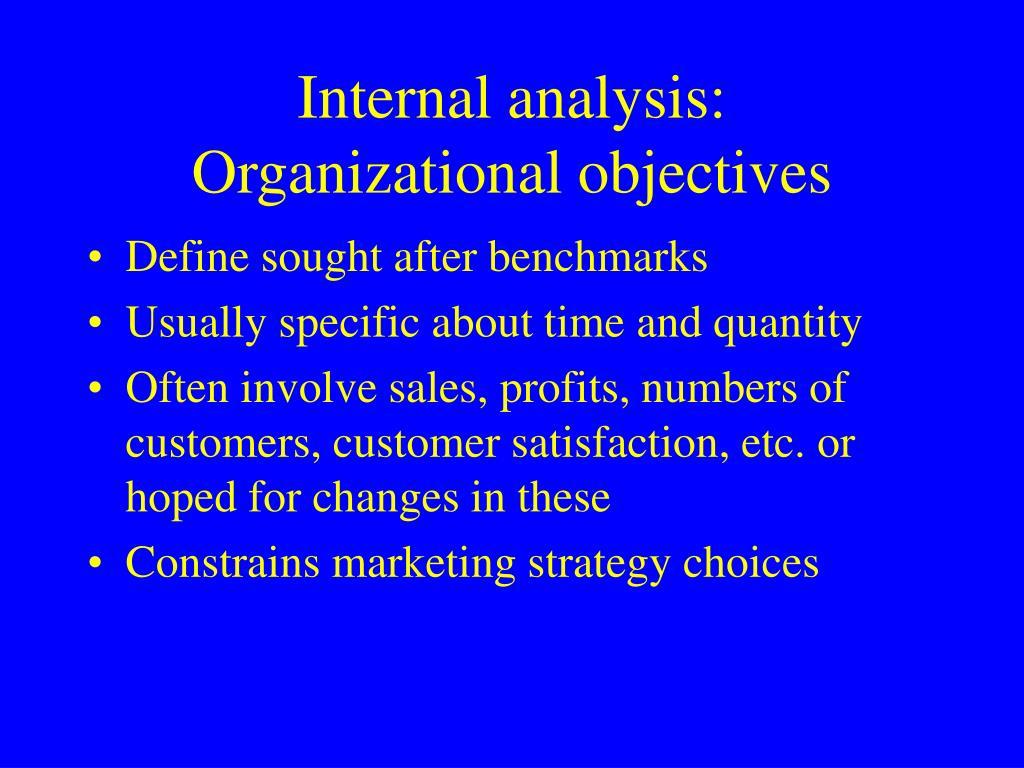 Internal analysis: