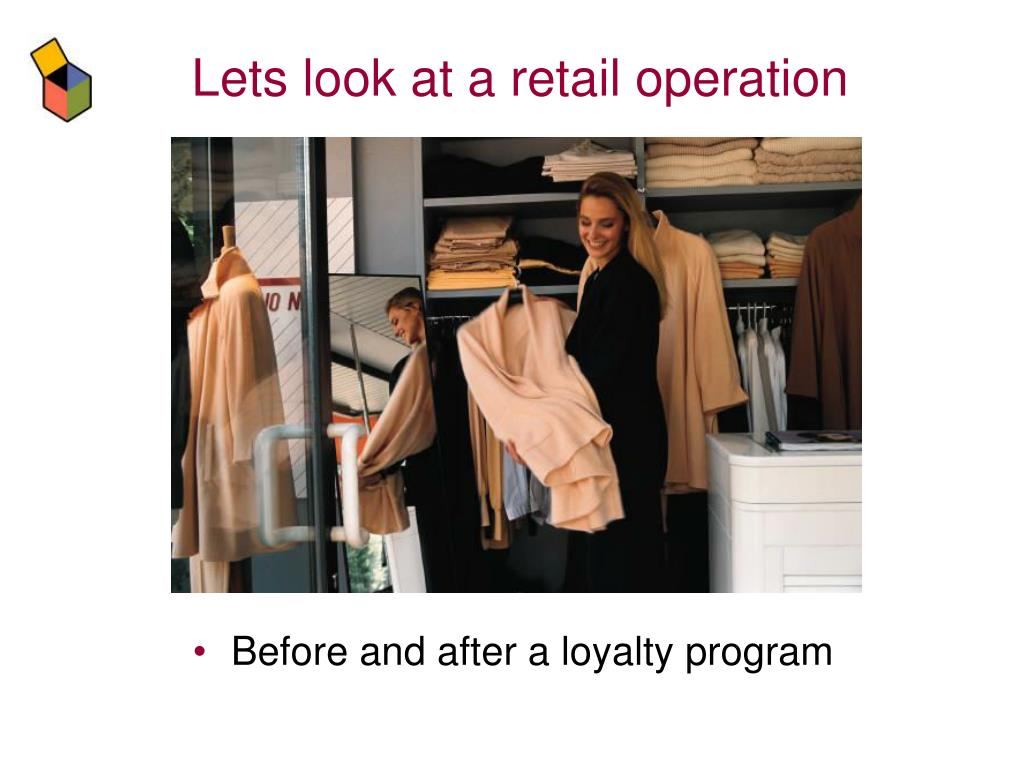 Lets look at a retail operation