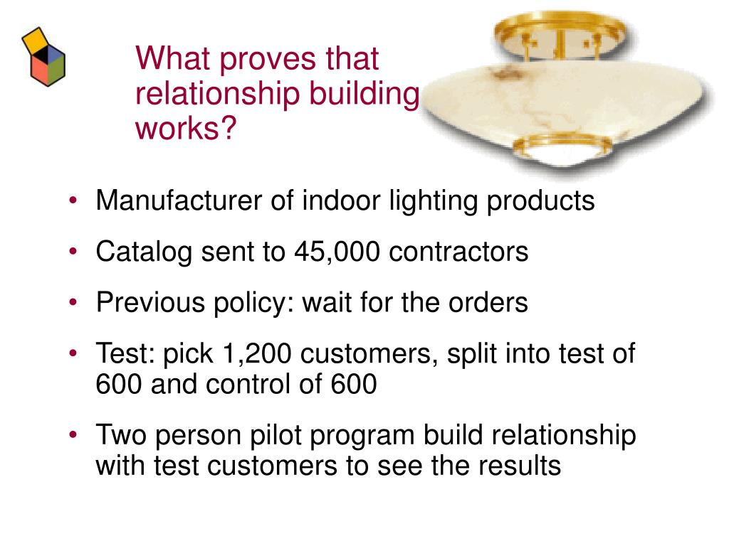 What proves that relationship building works?