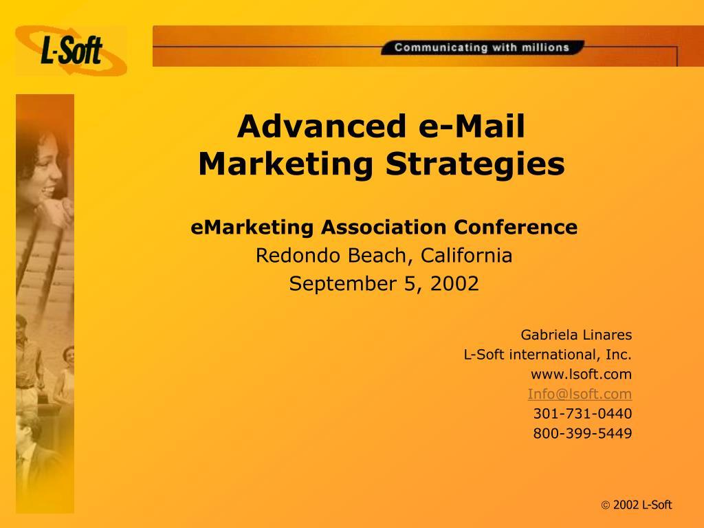 Advanced e-Mail