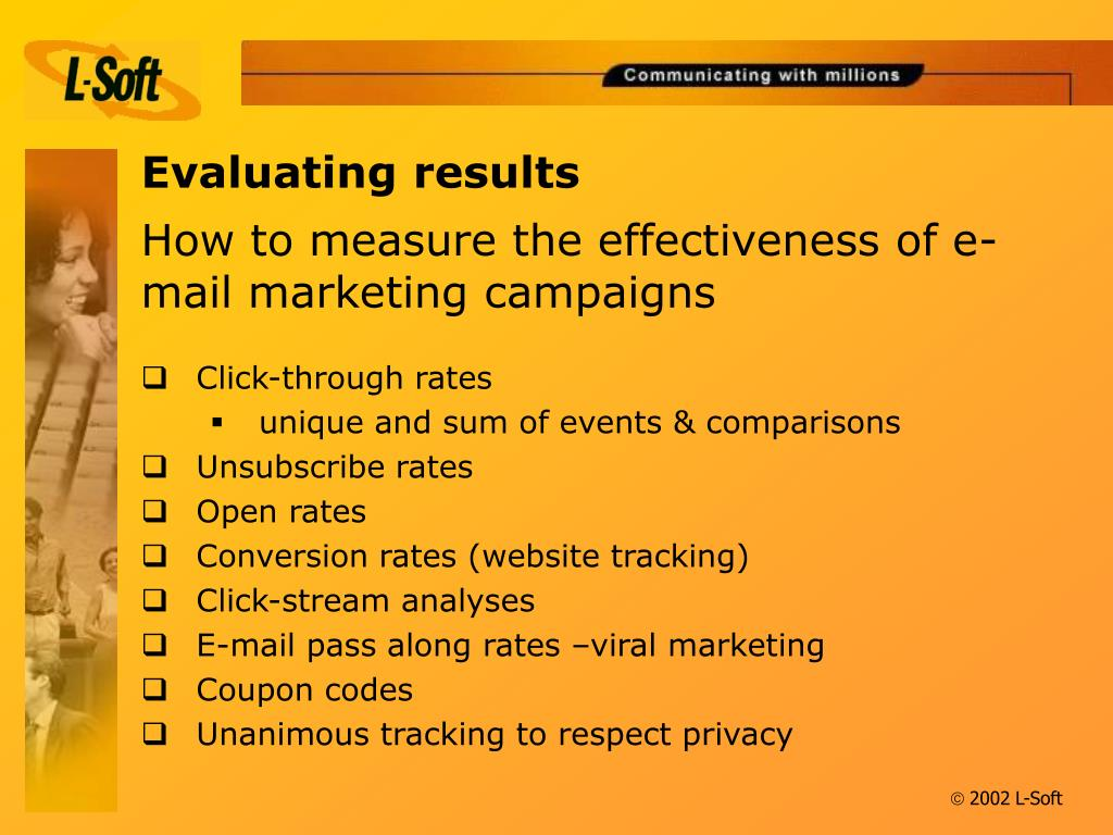 How to measure the effectiveness of e-mail marketing campaigns