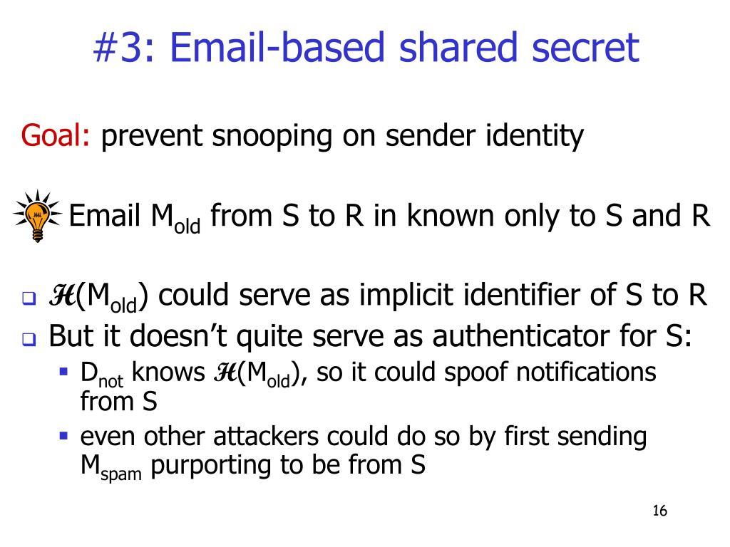 #3: Email-based shared secret