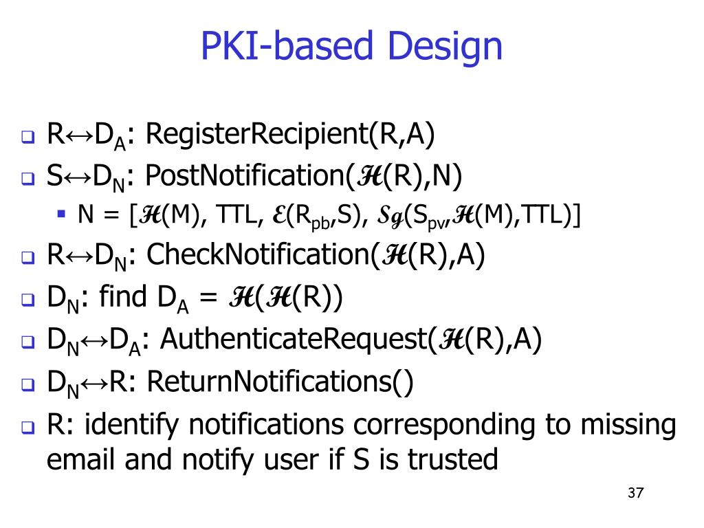 PKI-based Design