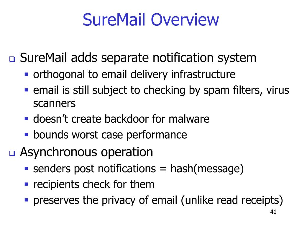 SureMail Overview