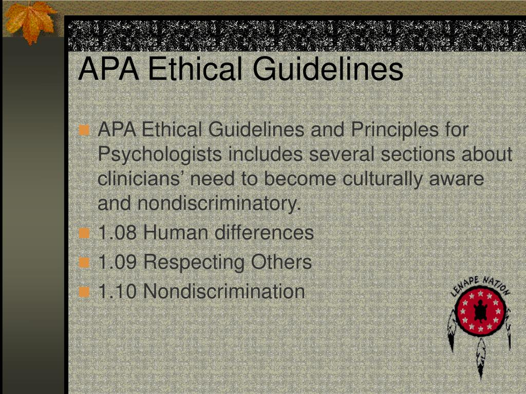 APA Ethical Guidelines