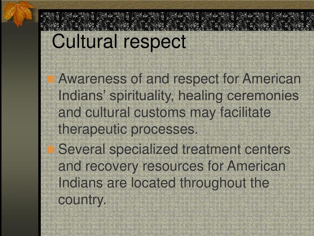 Cultural respect