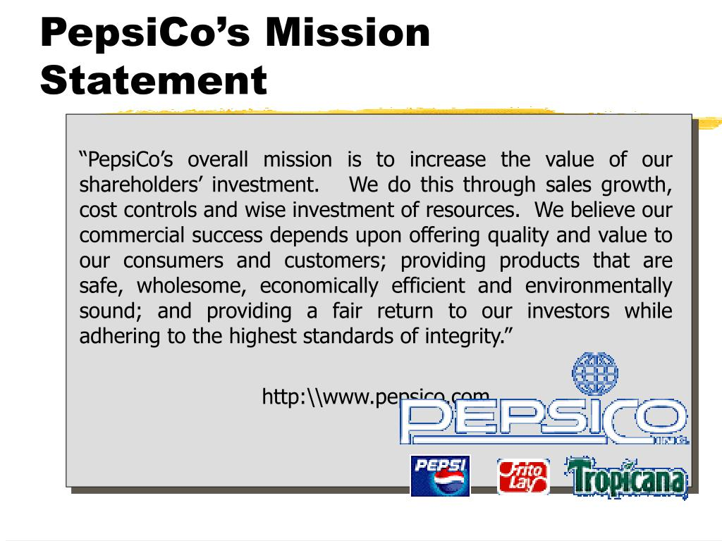 PepsiCo's Mission Statement