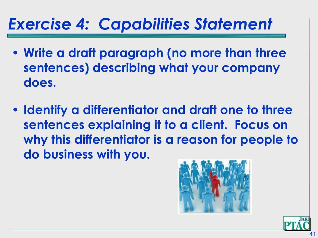 Exercise 4:  Capabilities Statement