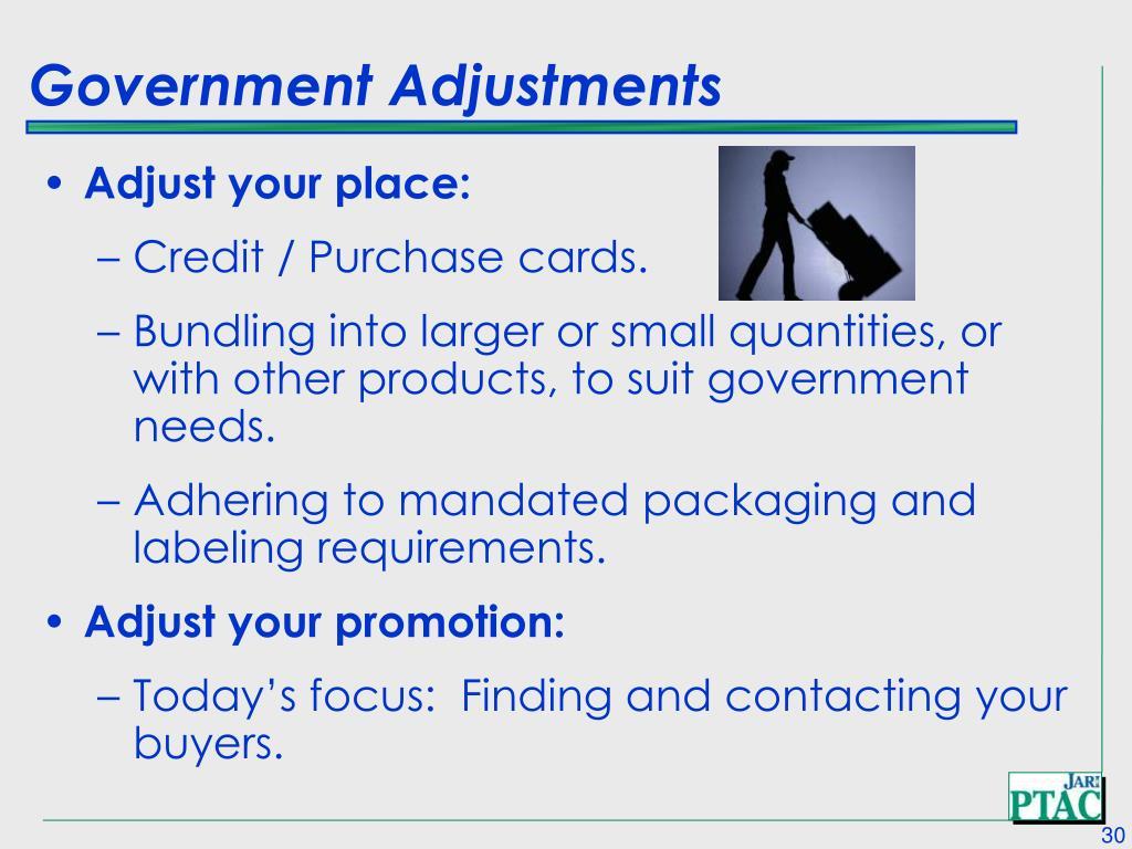 Government Adjustments
