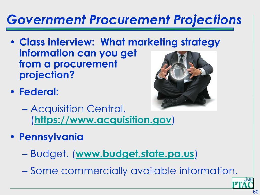 Government Procurement Projections
