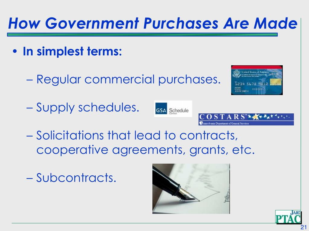 How Government Purchases Are Made