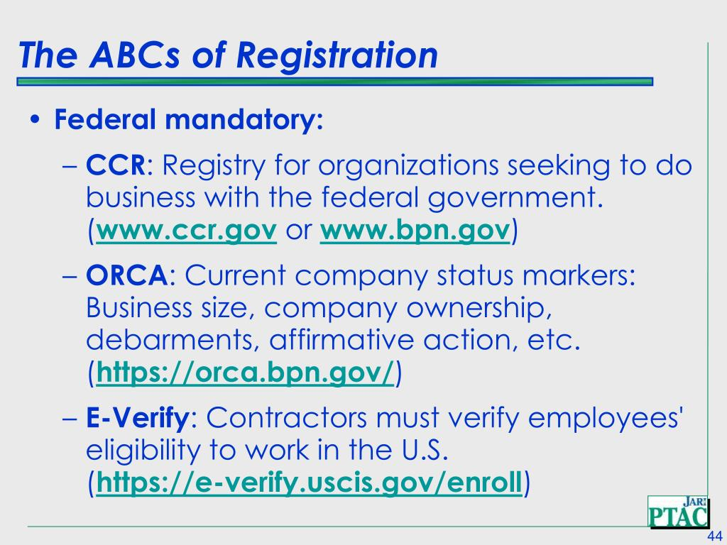 The ABCs of Registration