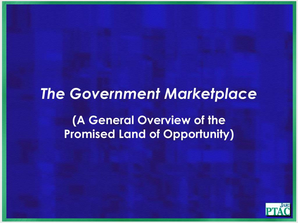 The Government Marketplace