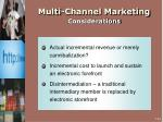 multi channel marketing considerations