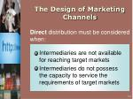 the design of marketing channels8