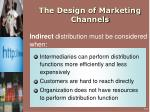the design of marketing channels9