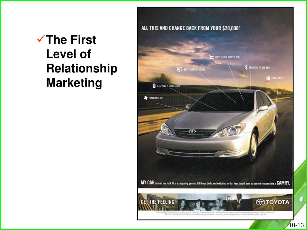 The First Level of Relationship Marketing