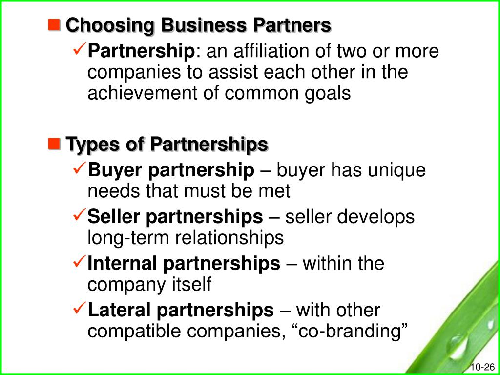 Choosing Business Partners