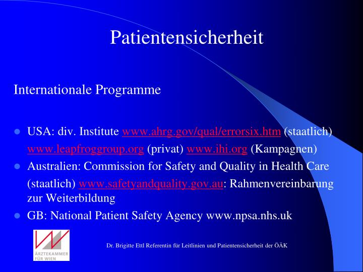 Patientensicherheit